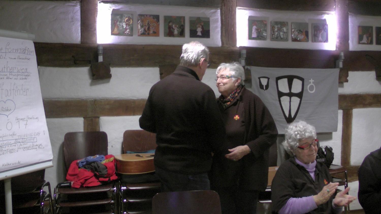 Gratulation Enzo an Mechthild Schmenger, Karin Lambrecht