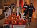 Pfadfinder aus Deutschland und Frankreich beim Friedenslicht in Leidingen
