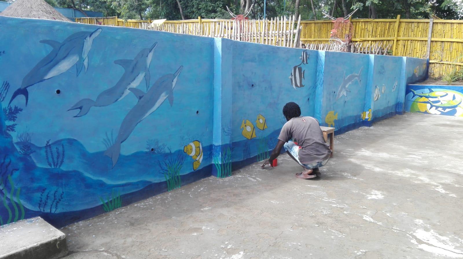 Frisch-restaurierte-Wand