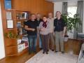 links der Bürgermeister von Veszeny,2 v.r. Janosz, unser Dolmetscher mit seiner Frau Suszana